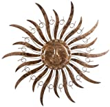 KUHEIGA Sonne, Ø 68 cm, Metall, gold