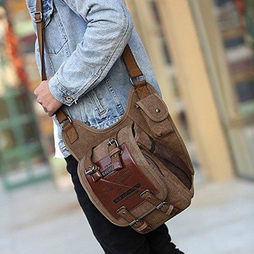 Model - Ledertasche für Männer kaufen - Schulter Taille - Rucksack kaufen - Qualität Retro Style kaufen