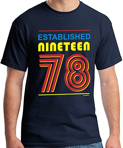 40 Geburtstag Männer Established Nineteen 78 (1978) T-Shirt