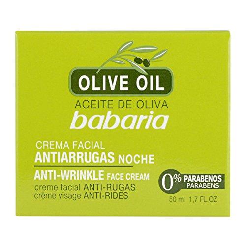 Babaria Gesichtscreme Antifalten, mit Olivenöl - 50 ml