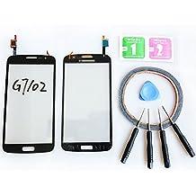 JRLinco ParaSamsung Galaxy Grand 2G7102G7105G7106 Pantalla de Cristal Táctil, Pieza de Recambio touchscreen glass display(Sin LCD) Para negro + Herramientas y Adhesivo de Doble Cara