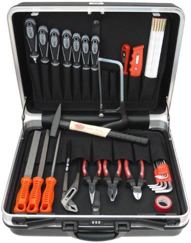 Famex 648-22 Werkzeug Komplettset Top Qualität in ABS Schalenkoffer 25L mit 66-teiligem Steckschlüsselsatz