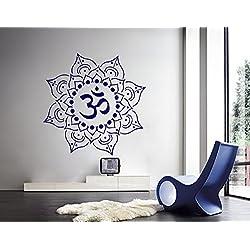 Mandala pared indio patrón Yoga Oum Om vinilo decoración del hogar arte murales dormitorio estudio ventana AH193