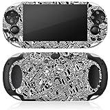Sony PS Vita Case Skin Sticker aus Vinyl-Folie Aufkleber Schwarz Weiß Muster Chaos