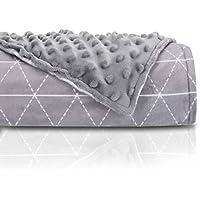 Luxus Erwachsene Beschwerte Decke 152,4x 203,2cm 15–25lbs von rocabi, Polyester-Mischgewebe, grau, 25 lbs