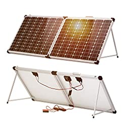 Dokio 100W 12V pannello solare monocristallino solare sistema impermeabile per il tetto di camper e caravan campeggio Jardin RV yacht Shed furgoni camper barca