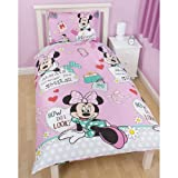 Character World Kinder-Bettwäsche mit offiziellen Disney-Motiven, Einzelbett Disney Minnie Mouse Makeover