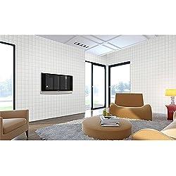 GOGO GO 10PCS 3D Ladrillo Autoadhesivo Pegatina Pared 60X60X0.7CM Papel Pintado Impermeable PE Espuma Muy Suave DIY Dormitorio Sala TV Fondo Limpieza Instalación Fácil