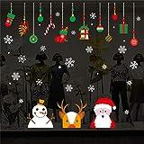 AUPUMI Weihnachten Fensterbilder, Schneemann Rentier Fensterbilder Aufkleber Aufkleber Weihnachten Winter Wonderland Dekorationen verziert Party Supplies (A)