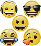 alles-meine.de GmbH 3 Stück _ Bügelbilder -  Emoji - Lacht / lachendes Gesicht - Verschiedene Mot..