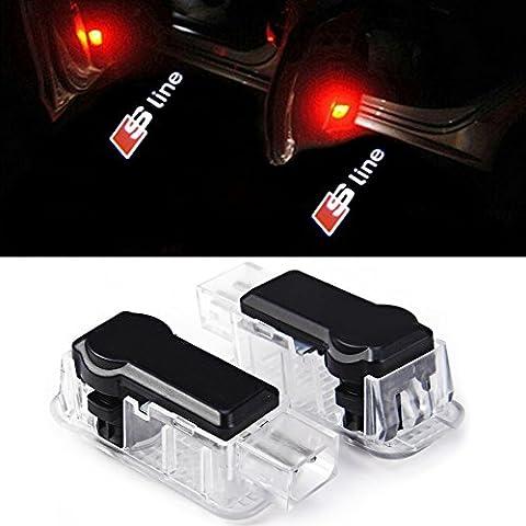 Inlink Portello di Automobile di Illuminazione Entrata Laser Proiettore Ombra di Benvenuto Della Lampada Della Luce di Marchio per Audi S-line