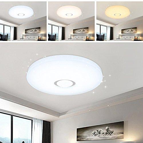 VGO® 50W 3in1 LED Farbwechsel Deckenleuchte Starlight-Effekt Schlafzimmer Deckenbeleuchtung Badleuchte