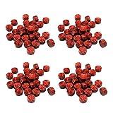 100 Pezzi Vintage Ottagonale Cera Sigillo Perline Sticks per Manoscritti Nozze Buste Lettera Regali Artigianali Timbro Cera Sigillatura (Oro Rosso)