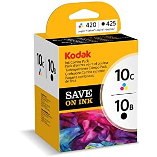 Kodak 3949948 Genuine 10B/ 10C Ink Cartridge Combo Pack - Black/ Colour (425/ 420 Pages)