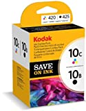 Kodak 3949948 Genuine 10B/10C Ink Cartridge Combo Pack - Black/Colour (425/420 Pages)