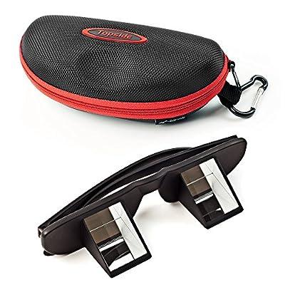 Topside Sicherungsbrille (Kletterbrille | Schwarz) in Premium-Qualität - inkl. Etui, Karabinerhaken, Brillenband, Aufbewahrungsbeutel und Mikrofaser-Reinigungstuch – Sichern ohne Nackenschmerzen von TOPSIDE