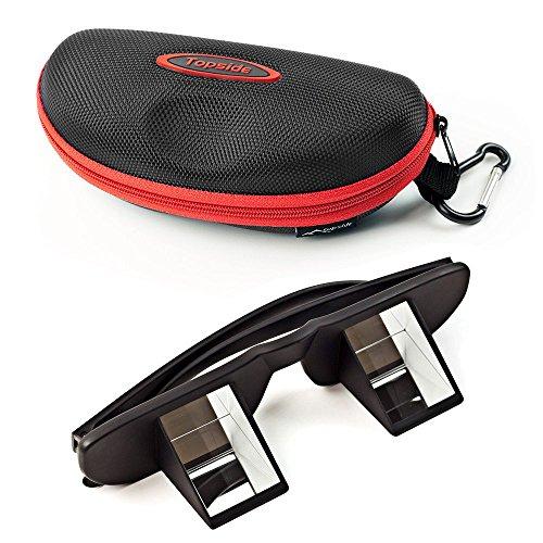Topside Sicherungsbrille (Kletterbrille | Schwarz) in Premium-Qualität - inkl. Etui, Karabinerhaken, Brillenband, Aufbewahrungsbeutel und Mikrofaser-Reinigungstuch – Sichern ohne Nackenschmerzen Test