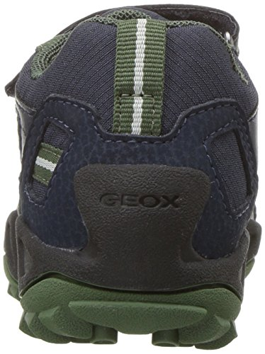 Geox Unisex-erwachsene J New Wild Boy A Sneaker Blau (navy / Verde)