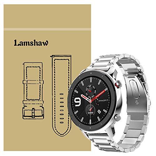 Ceston Metallo Acciaio Classica Cinturino per Smartwatch Amazfit GTR (47mm, Argento)