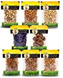 Tulunadu Flavours Dry Fruits Combo Pack with Cashew Nut, Black-Raisins, Golden Raisins, Almonds, Pista, Walnut, Afghani Apricot, Anjeer (800g)