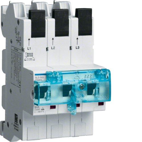 Preisvergleich Produktbild Hager Tehalit SLS-Schalter 63 A, 3-polig mit Steckkontaktierung für Sammelschiene, HTS363E