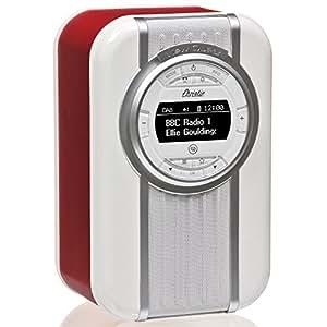 Radio digitale DAB e DAB+ VQ Christie con FM, Bluetooth/NFC, sveglia, display rotante e fascia smaltata Rosso