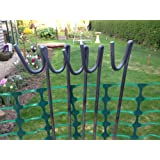 10 Steel Fencing Pins. Height 1.3m. Shepherds Crook. Pins for barrier fencing and garden netting, 10pack. Road Pins.