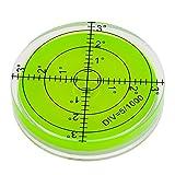 Smartfox Dosenlibelle Acryl Wasserwaage rund mit Gradzahlen, Durchmesser 60 x 12 mm