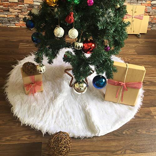 ShiyiUP Falda de Árbol de Navidad Blanco Decoración Felpa para ...