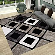 Soft Indoor Large Modern Area Rugs Shaggy Patterned Fluffy Carpets Suitable for Living Room and Bedroom Nurser