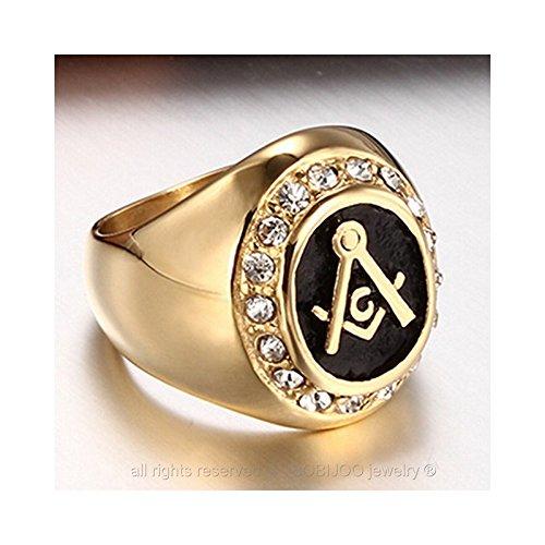 9da14421988 BOBIJOO Jewelry – Bague Homme Chevalière Acier Inoxydable 316L Doré Or Fin  ...