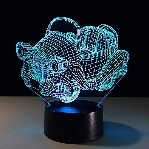 Led 3D Nacht LighT -Wand -Licht -Batterie Betrieben Acryl -Nachtlicht Mini -Led -Leuchten Batteriebetriebene Kinderlampe Schlafzimmer ()