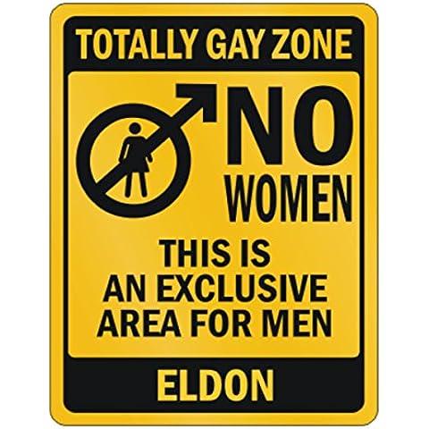 Teeburon Totally gay zone No women Eldon Parking Sign