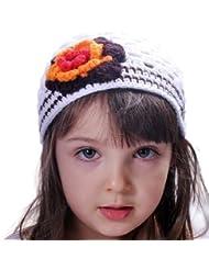 Style Nuvo - Bonnet Fille Crochet Garçonne Avec Fleurs