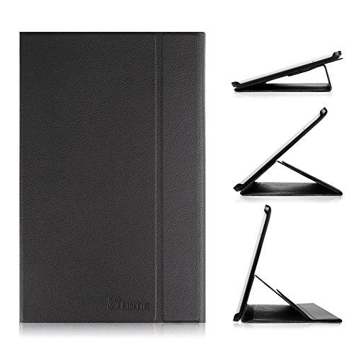 3g Flip Folio (Fintie Samsung Galaxy Tab E 9.6 Hülle Case - Ultra-schmaler Flip Folio Smart Book Cover Schutzhülle für für Samsung Galaxy Tab E T560N / T561N 24,3 cm (9,6 Zoll) Tablet-PC, Schwarz)