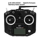 FrSky Taranis Q X7 Sender ACCST 2.4GHz 16CH RC Frsky Transmitter kompatibel mit Frsky Empfänger for FPV Racing Drone Quadcopter by LITEBEE ( Black )