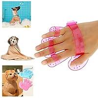 ZoPhor (TM) Spazzola di pulizia pettine per cani e gatti in gomma Guanto da bagno Toelettatura Pet prodotti