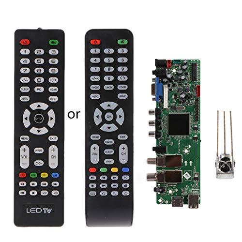 Xuniu DVB-S2 DVB-T2 DVB-C Digitales Signal ATV Maple Driver LCD Fernbedienung Board Launcher Universal Dual USB Medien QT526C V1.1 T. S512.69 -