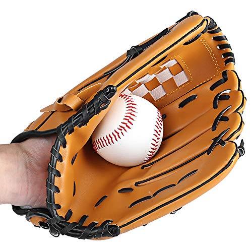 Atmungsaktive bequeme Handschuhe Baseballhandschuh Sport Schlaghandschuhe, Baseballhandschuhe PVC Dicke Softball Baseballhandschuhe-10,5 Zoll 11,5 Zoll 12,5 Zoll Für Kinder Jugend Erwachsener Geeignet