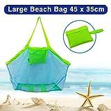 Sandspielzeug Netztasche Große Strandtasche Grün Aufbewahrungstasche für Strandspielzeug Wiederverwendbare Faltbare für Wasserspielzeug Urlaub