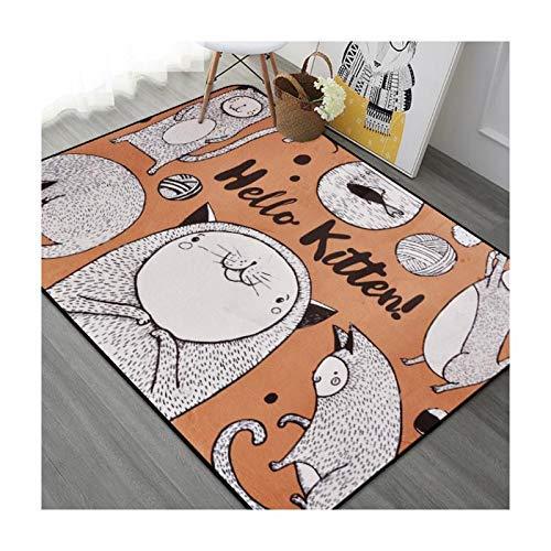 WYJW Cartoon Printe teppiche für Wohnzimmer Kinder Spielen Spiel Teppich Baby Schlafzimmer kriechen Matte Kind Bad Anti-Skid tapete Carpet, 120 cm x 180 cm