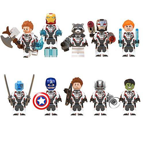 Monifuon Marvel Avengers Actionfigur, Kunststoff kreative und pädagogische Bausteine, ab 3 Jahren Rollenspiel Geschenk Bau Bildung Spielzeug