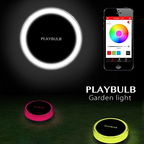 Wuchance Bluetooth intelligente LED Solar Power Garten Licht im Freien Rasen Lampe Gartenbedarf