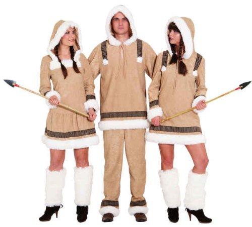 (Inuit Damen Kostüm als Eskimo zu Karneval Fasching Gr.48/50)