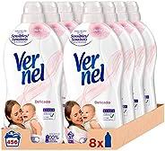 Vernel Suavizante Delicado - Pack de 8 x 57, Total: 456 lavados
