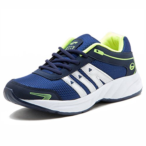 Lancer Men's Blue Green Sports Shoes - Ys-Hydra-8-Nbl-Pgn-43