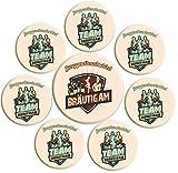 1 BRÄUTIGAM + 7 TEAM BRÄUTIGAM JGA Junggesellenabschied Männerabend vor der Hochzeit © RAHMENLOS® & MakenGO Wedding Sticker Button Ihrer Wahl: rml-006-1/7-Er-JGA
