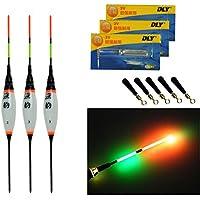 3pcs Lot qualyqualy recargable luz de noche luminoso electrónico LED Flotadores De Pesca Lago de flotabilidad Carp, 3 Pcs #3