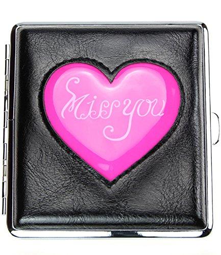 caripe Zigarettenetui 20 Zigaretten, viele Designs - art (aw7 - Paris-France) Missyou - pink