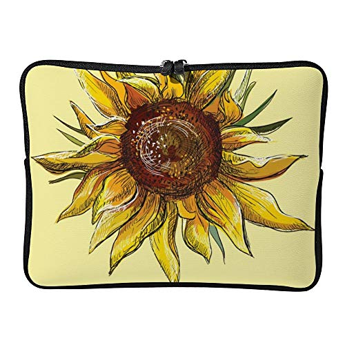 DKISEE Sunflower Laptop Sleeve Case Bag Cover Compatible 13 inches Notebook MacBook Air MacBook Pro - Hp-laptop-disney Cover